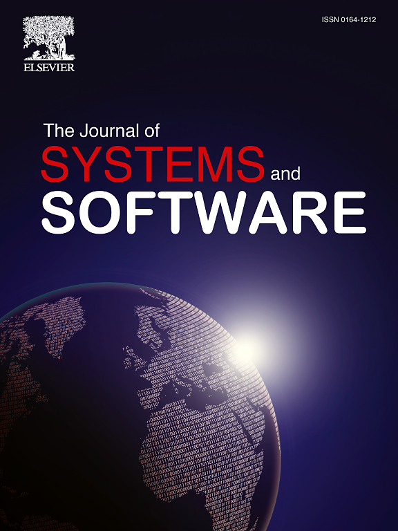 Logo of The Journal of Systems and Software